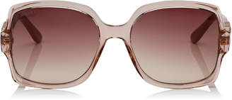 Jimmy Choo SAMMI Brown Shaded Square Sunglasses with Nude Frame