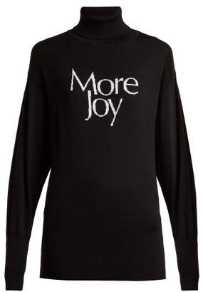 Christopher Kane - More Joy Intarsia Wool Roll Neck Sweater - Womens - Black