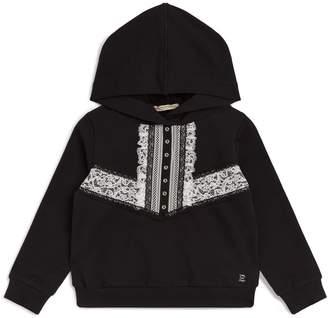 Ermanno Scervino Lace-Embellished Hoodie