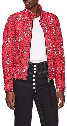 Moncler Women's Palm-Leaf-Pattern Down Puffer Jacket