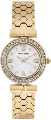 Anne Klein AK3140 Gold-Tone Watch & Interchangeable Bezel & Strap Set