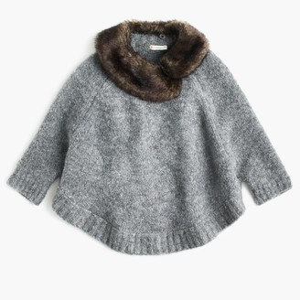 Girls' merino wool poncho with faux-fur collar $118 thestylecure.com