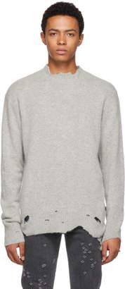 Diesel Grey K-Must Distressed Crewneck Sweater