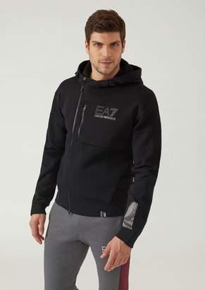 Emporio Armani Ea7 Evo Plus Premium Technical Fabric Training Sweatshirt With Hood