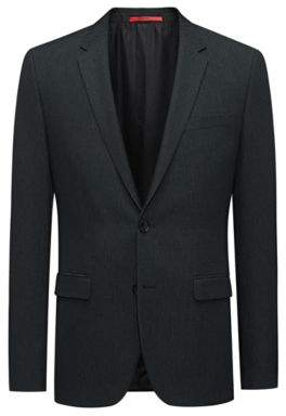 HUGO Boss Extra-slim-fit jacket in a structured wool 38R Dark Green