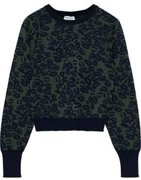 Sonia Rykiel Metallic Cotton-blend Jacquard Sweater