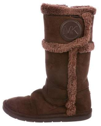 Michael Kors Girls' Suede Tall Boots