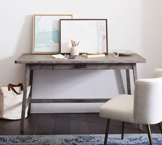 e6881ff7a1 Pottery Barn Mateo Rustic Large Desk, Salvaged Gray