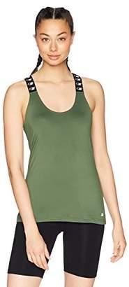 Starter Women's High Neck Logo Elastic Tank Top, Amazon Exclusive