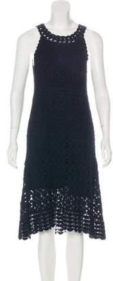 Diane von Furstenberg Adie Linen-Blend Crochet Dress