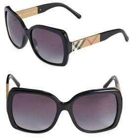 Burberry Square Signature Plaid Sunglasses