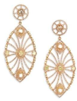 Bavna 18K Gold& Diamond Oversize Drop Earrings