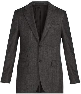 Stella McCartney Herringbone Wool Jacket - Mens - Grey