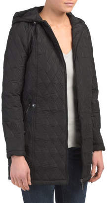 Hooded Quilted Walker Coat