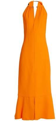 Proenza Schouler Choker-neck crepe midi dress