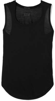 ATM Anthony Thomas Melillo Sweetheart Stretch-modal Jersey Tank - Black