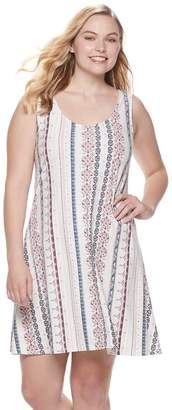 Mudd Juniors' Plus Size Cross Back Sueded Jersey Dress