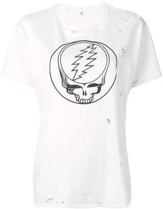 R 13 distressed graphic T-shirt