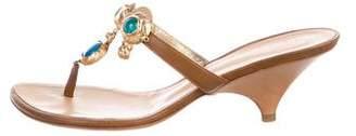 Giuseppe Zanotti Leather Round-Toe Sandals
