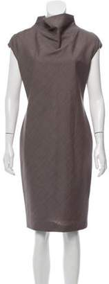 Max Mara Knee-Length Belted Dress Brown Knee-Length Belted Dress