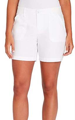 Gloria Vanderbilt Women's Ribbed Waistband Utility Short