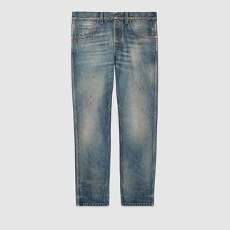 Gucci Tapered denim pant