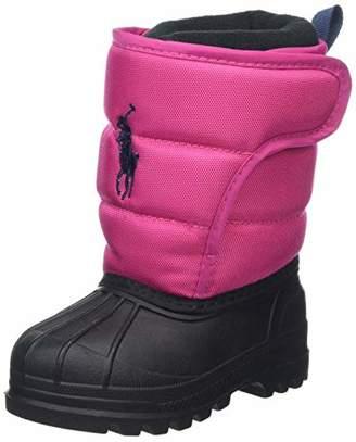 Ralph Lauren Unisex Kids' Hamilten II EZ Snow Boots Baja Nylon W/Navy Pp Pink, 4 Child UK 20 EU