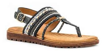 Good Choice New York Letty Beaded Comfort Flat Sandal