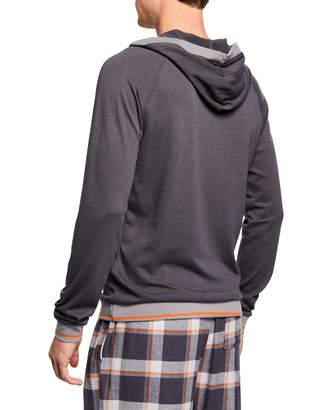 Psycho Bunny Men's Plush Sweater Knit Hoodie Sweatshirt