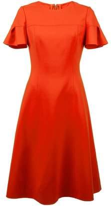 Carolina Herrera flutter sleeve midi dress