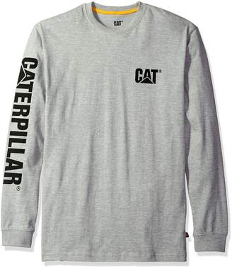 Caterpillar Men's Trademark Banner Long S T-Shirt, Heather Grey, 2X-Large