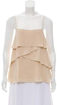 Rebecca Minkoff Sleeveless Asymmetrical Ruffle Top