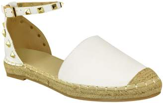 Fashion Thirsty Womens Flat Studded Ankle Strap Summer Hessian Espadrilles Shoe Size 5