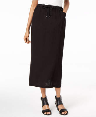 Eileen Fisher Organic Cotton Pull-On Midi Skirt