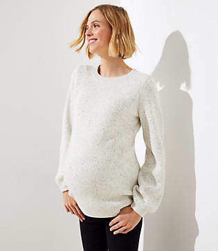 LOFT Maternity Flecked Ribbed Sweater