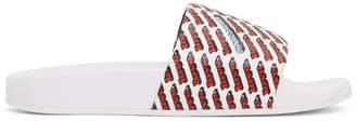Marc Jacobs White Love Aqua Slides