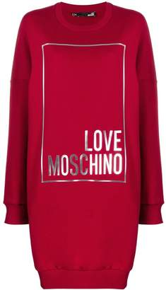 Love Moschino printed sweater dress