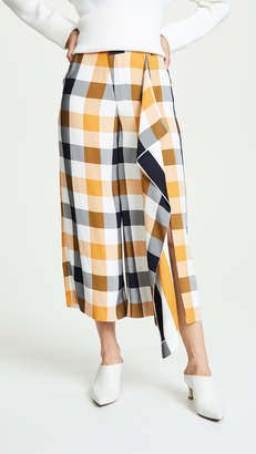 Monse Gingham Flare Culottes