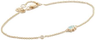 Sydney Evan 14k Gold Mini Elephant Bracelet $385 thestylecure.com