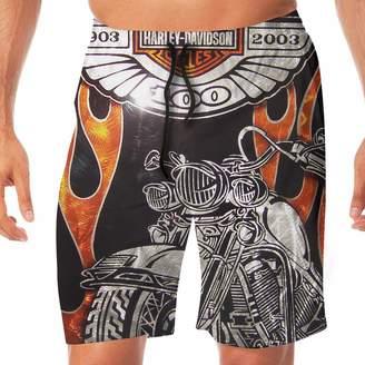 61b3ded0da Harley-Davidson K321dsh21 Motorcycle Logo Men's Beach Shorts Beach Swimming  Vacation Surfing Shorts Trunks Pants