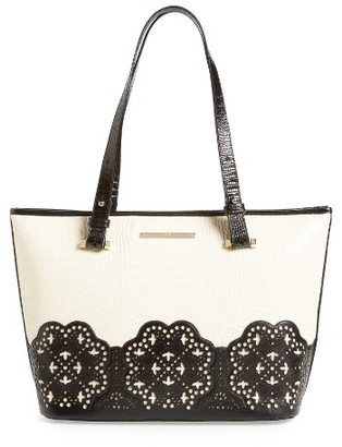 Brahmin Magnolia Medium Asher Leather Tote - Black $365 thestylecure.com
