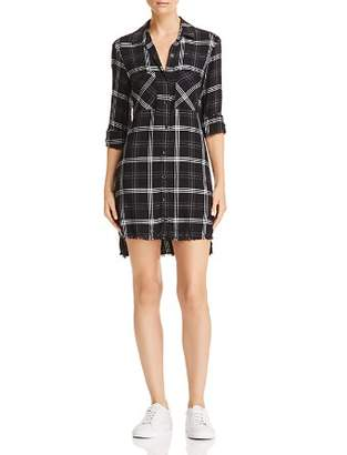 Bella Dahl Frayed Step-Hem Shirt Dress