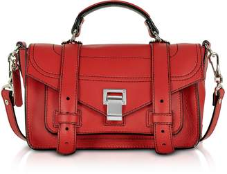 Proenza Schouler PS1+ Tiny Cardinal Leather Flap Handbag