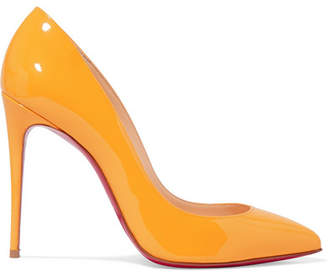 80d5f4ce825f Christian Louboutin Pigalle Follies 100 Patent-leather Pumps - Yellow