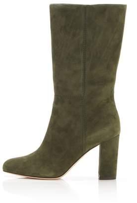 Marion Parke Delila | Suede Block Heel Mid-Calf Boot