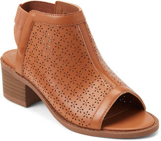 Nina Kids Girls) Tan Maya Perforated Cutout Ankle Booties