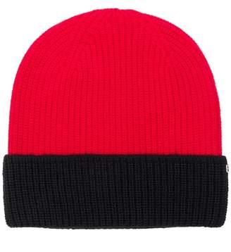 Sportmax Code bicolour beanie hat