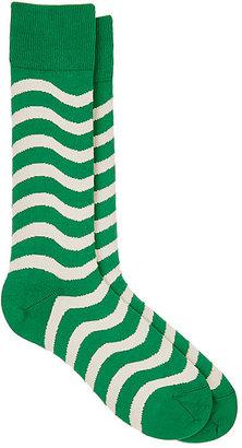 Paul Smith Men's Wobble Striped Mid-Calf Socks $30 thestylecure.com