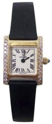Concord 14K Yellow Gold 0.50ct Diamonds 18mm Womens Watch
