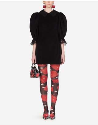 Dolce & Gabbana Short Velvet Dress